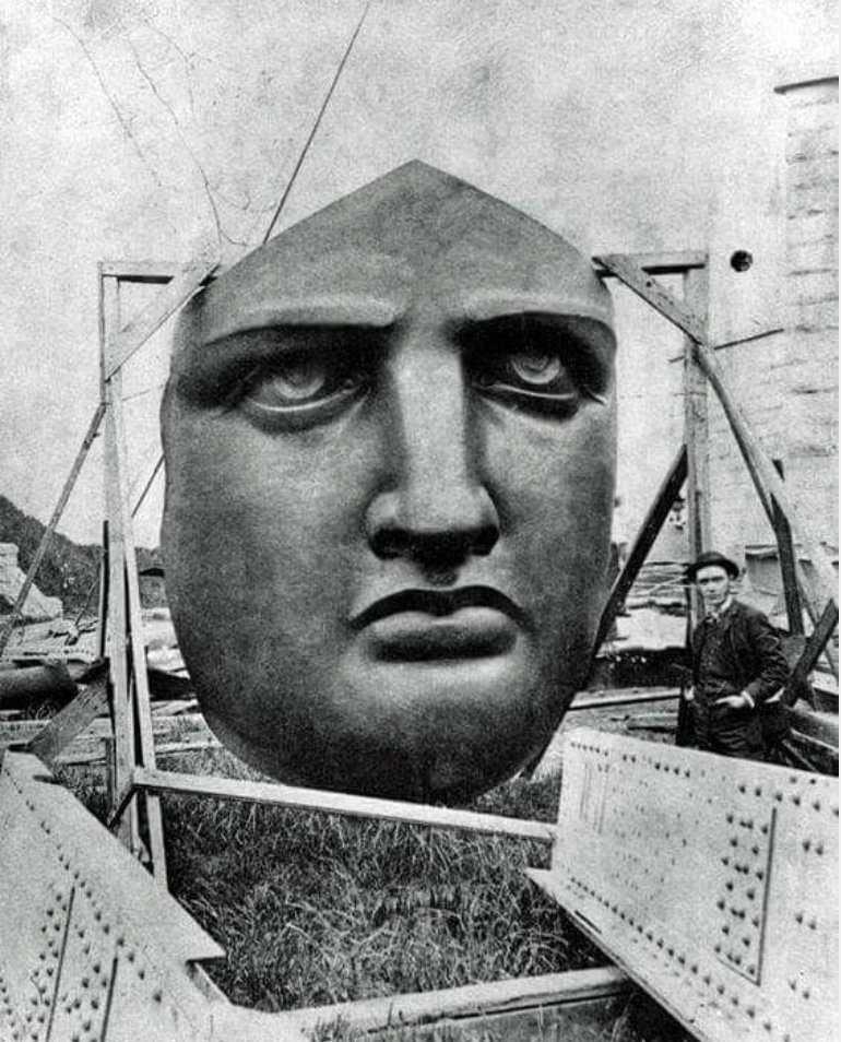 Face of the Statue of Liberty, Liberty Island, NYC, 1886.jpg
