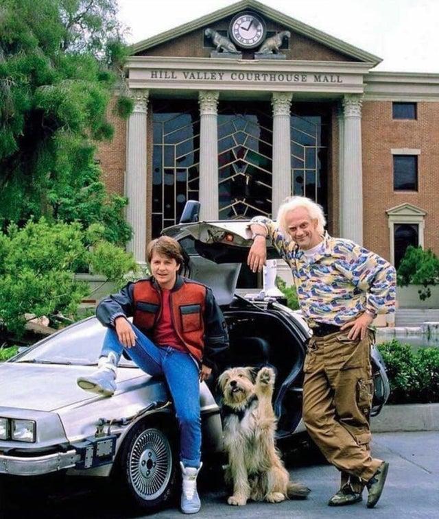 Marty, Doc & Einstein, 1989.jpg